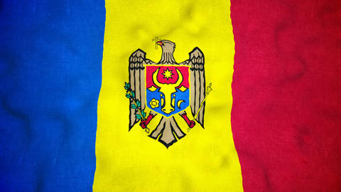 Moldovan Flag Seamless Video Loop Animation
