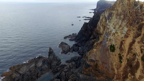 Sea view from rocks Stock Video Footage