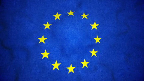 European Union Flag Seamless Video Loop Animation