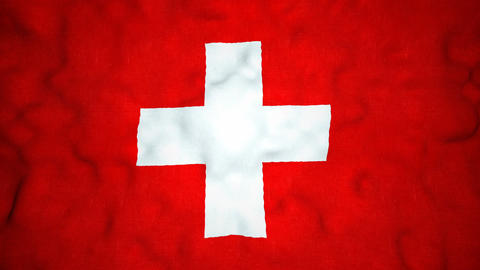 Swiss Flag Seamless Video Loop Animation