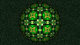 Abstract decorative video with rotating green sphere Animation