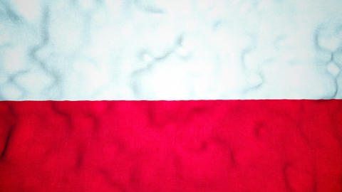 Polish Flag Seamless Video Loop Animation