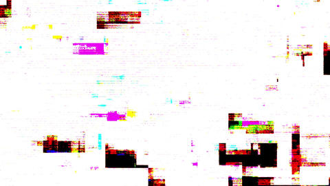 Colored Noise Digital Grunge Glitch Video Damage Animation