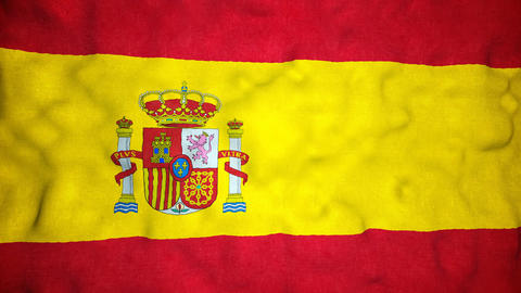 Spanish Flag Seamless Video Loop Animation