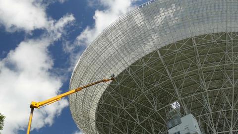 11827 painting renovate huge radio telescope zoom realtime Footage