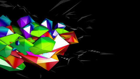 Color 3D Mapping 4K 01 Vj Loop Animation