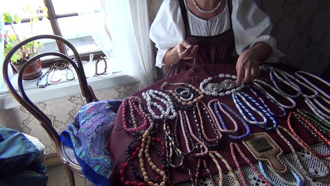 Handicraft Necklace for Women Footage