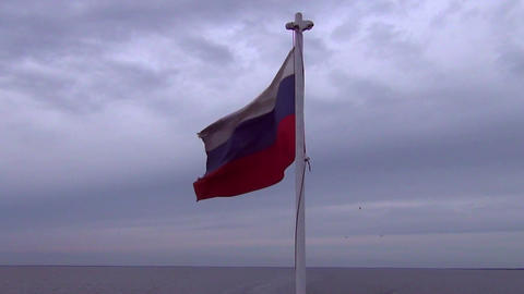 Russian flag in the wind Footage