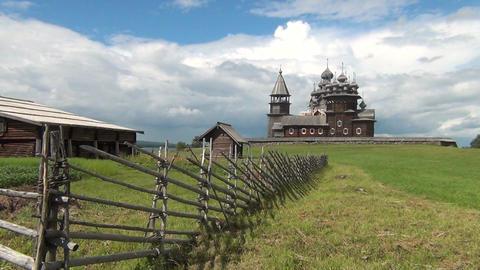 Russian Orthodox Church in Kizhi Footage