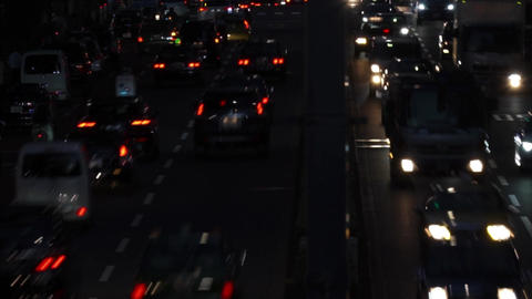 Night view · Overhead view · Car (4 lanes) / pan
