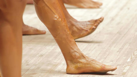 Muscular legs of professional athletes, unhealthy blood vessels, health risk Live Action