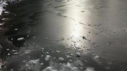 Frozen pond Footage