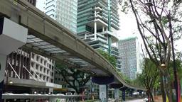 Malaysia Kuala Lumpur 007 metro rail is going past GIF