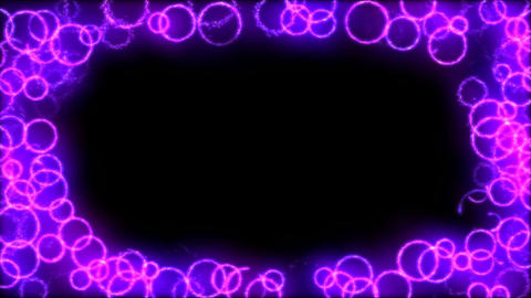 Drawing Circle Shapes on Black Background Animation - Loop Purple Animation