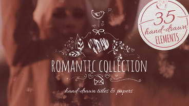 Romantic Collection Hand-drawn Title Plantilla de After Effects