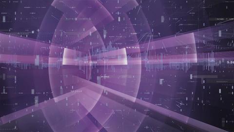 B Data Numbers Grid 2K Loop Animation