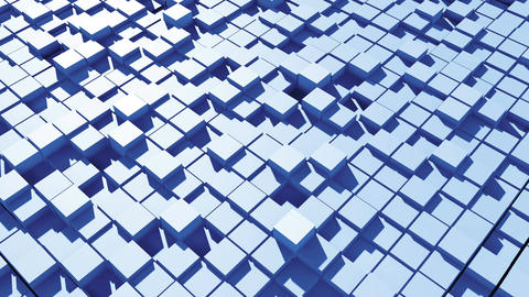Abstract surface of moving cubes. Seamless loop Animation