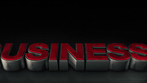 Metal 3d Business text with reflection and light Animation