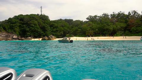 Speedboat departure from Similan Islands ビデオ