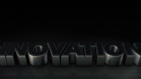Metal 3D Text Innovation with reflection and light Animation