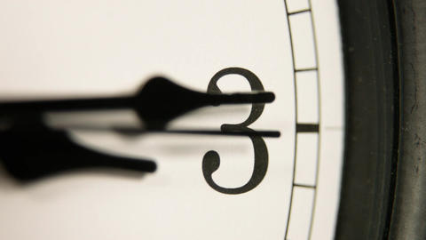 White wall clocks running. The movement of the clock hands Footage