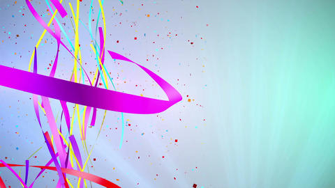 Ribbon Party Background 2