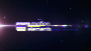 4k Space Glitch Logo Reveal After Effects Project