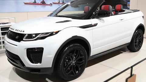 Range Rover Evoque HSE convertible crossover SUV Footage