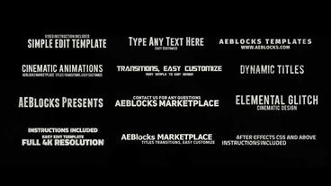 Cinematic Glitch Titles 3 After Effects Template