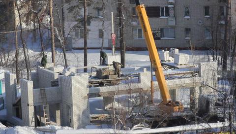 11 crane construction sky Footage