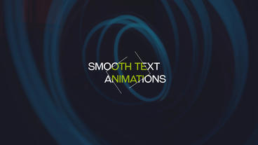 Smooth Text Animations After Effects Project