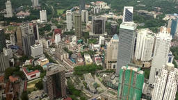 Malaysia Kuala Lumpur 018 aerial shot of different tall buildings GIF