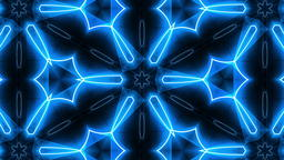 VJ Fractal blue kaleidoscopic background Photo