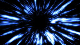 Futuristic light tunnel. Abstract background with black hole Photo