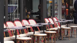 Typical Parisian Cafe Chairs Footage