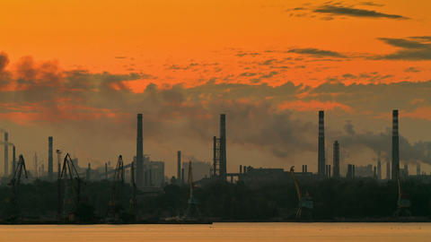 time lapse industrial area Stock Video Footage