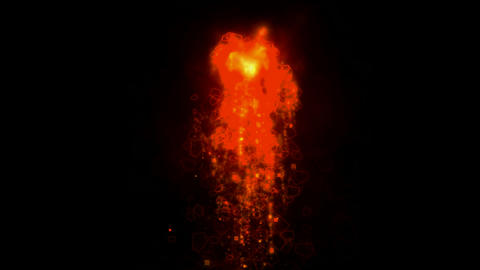 volcanic erupt,falling magma,explosion fire Stock Video Footage