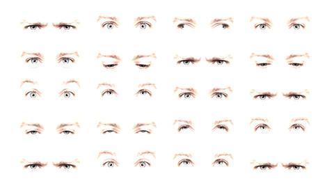 Multiple eyes 03 Stock Video Footage