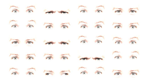 Multiple eyes 03 Animation