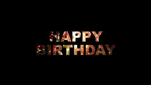 Happy birthday fireworks 01 Stock Video Footage