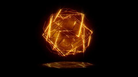 Golden Lines Sphere Stock Video Footage
