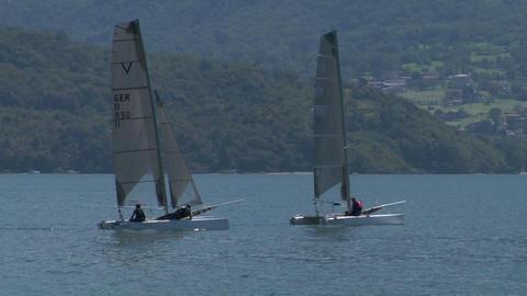 catamaran 02 e Stock Video Footage