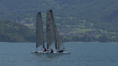 catamaran 02 e Stock Video Footage