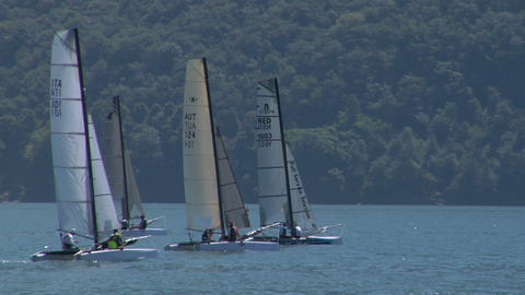 catamaran 06 e Stock Video Footage