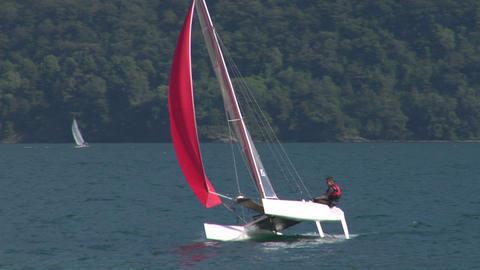 catamaran 12 e Stock Video Footage