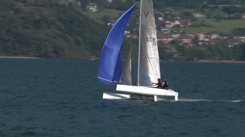 catamaran 14 e Stock Video Footage