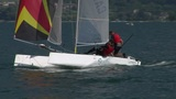 catamaran 16 e Stock Video Footage