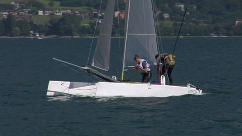 catamaran 18 e Stock Video Footage