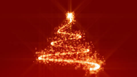 Shine Christmas tree background Stock Video Footage