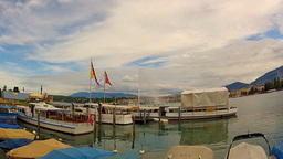 boats on geneva lake Stock Video Footage
